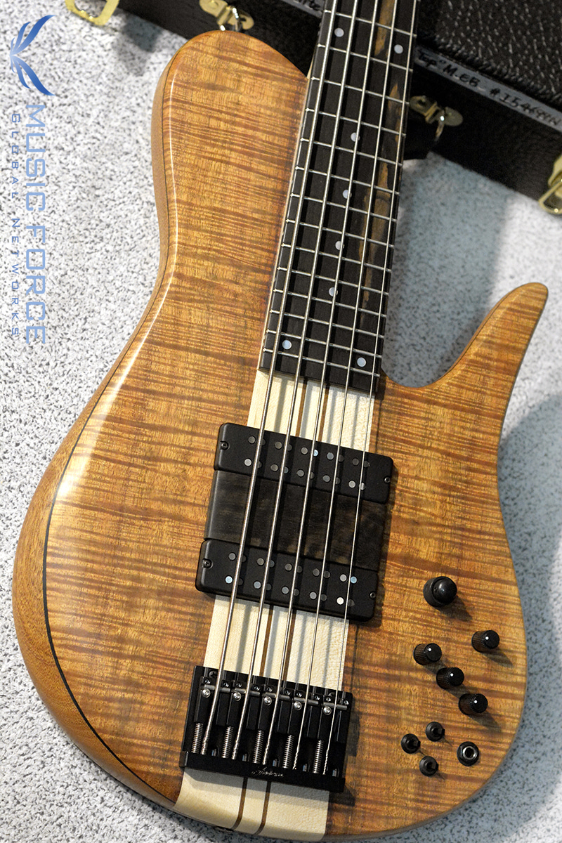 [창사11주년기념세일!!!]  Fodera Custom Imperial Elite 5-Figured Koa Top w/5-Piece Maple Neck, Macassar Ebony FB & Ebony Ramp(2018년산/신품)