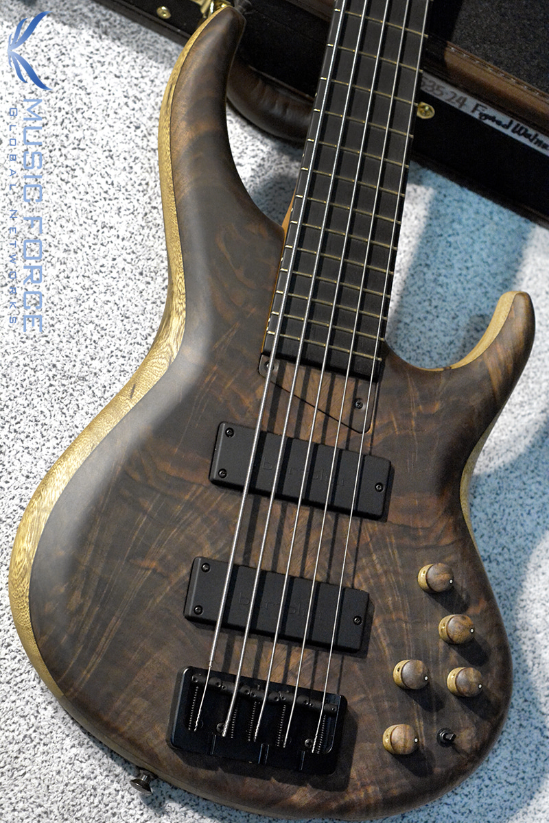 "MTD 535-24 US Custom Bass Black Limba Body-Figured Walnut ""10""Top w/Ebony FB(2018년산/신품)"