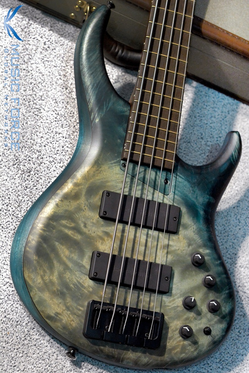 MTD 535-24 US Custom Bass Tulipwood Body/Myrtle Burl Top-Hand Rubbed Stain Blue Fade w/Wenge Neck(2017년산/신품)