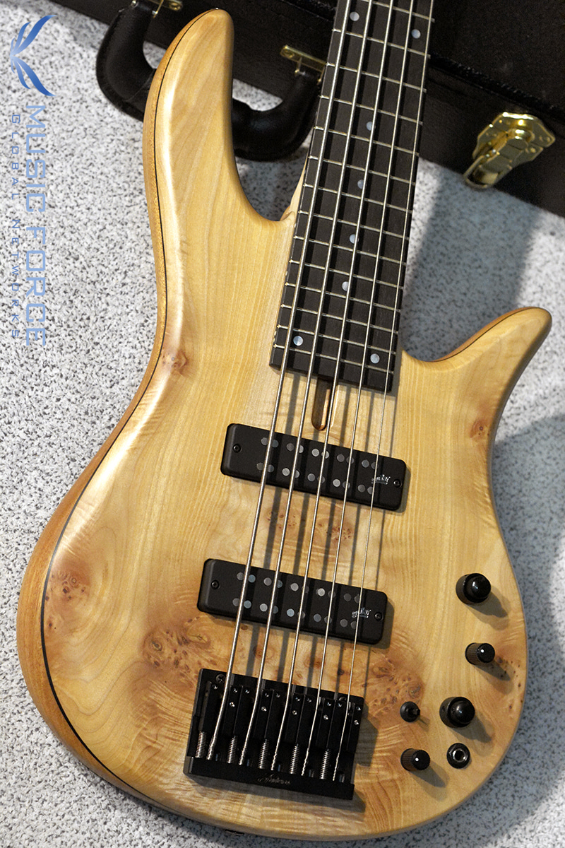 Fodera Monarch 5 Standard Special LTD-Maple Burl Top w/Ebony FB (2018년산/한정판/신품)