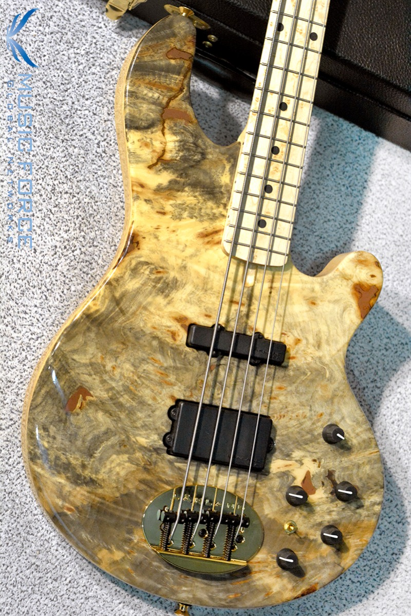 Lakland US Custom 44-94 Deluxe Buckeye Burl Top w/Birdseye Maple FB & Black Gold HW(2017년산/신품)