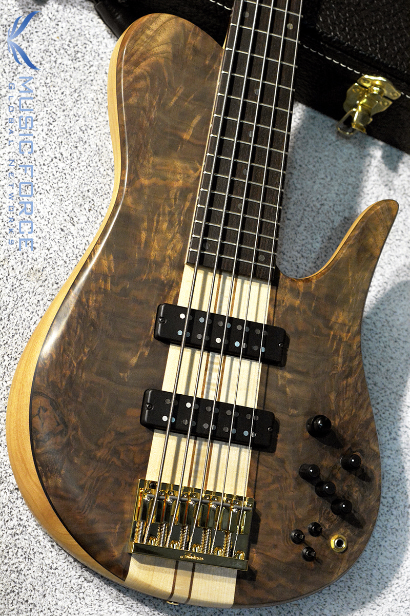 [창사11주년기념세일!!!] Fodera Custom Imperial Elite 5-Crotch Walnut Top w/5-Piece Maple Neck & Indian Rosewood FB(2017년산/신품)