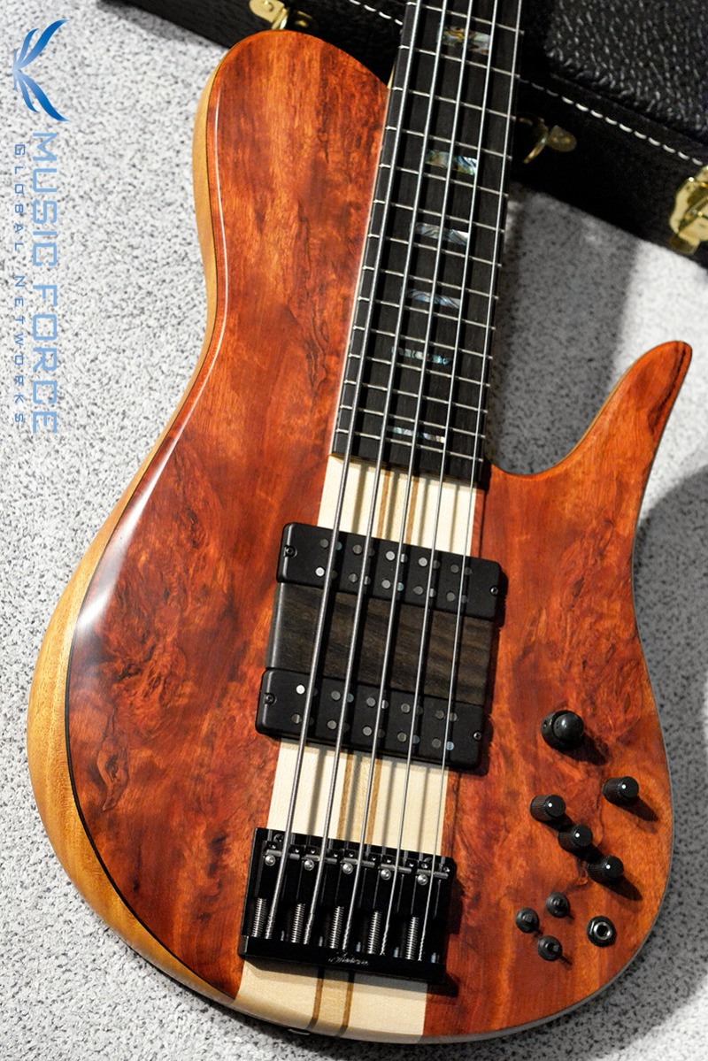 Fodera Custom Imperial Elite 5-Bloodwood Top w/5-Piece Maple Neck, Abalone Block Inlay, Ebony FB & Ebony Ramp(2019년산/신품)