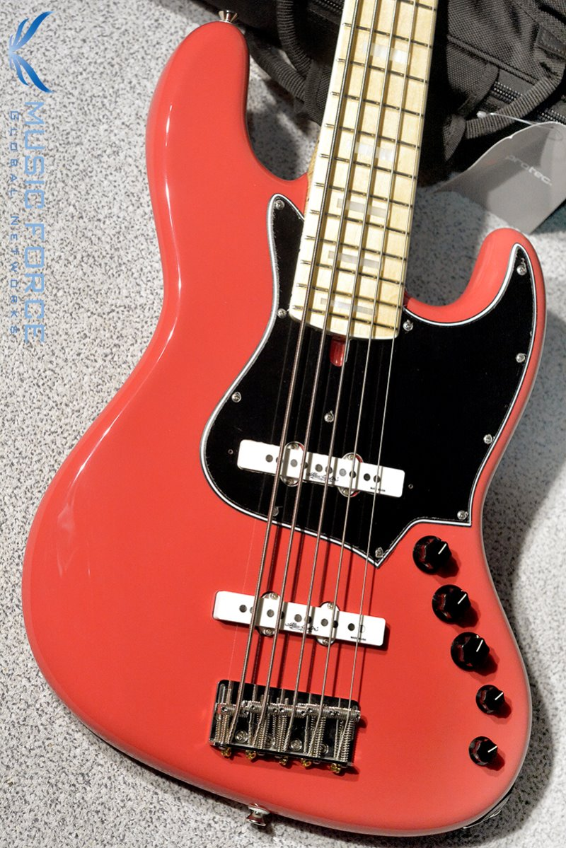 Alleva Coppolo LM5 Deluxe(Ash Body)-Fiesta Red w/Maple FB, Matching Head, Block Inlay & Binding(2019년산/신품)