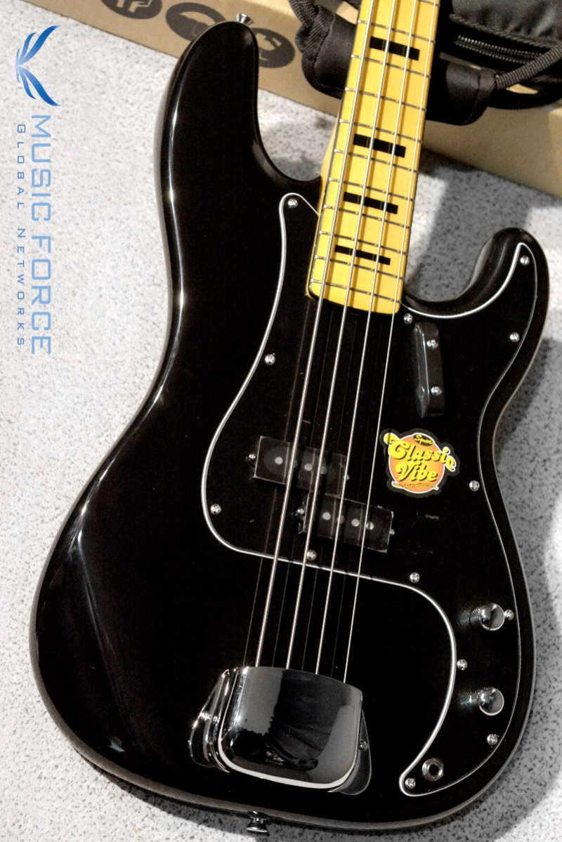 Squier Classic Vibe 70s Precision Bass-Black w/Maple FB (2018년산/신품)