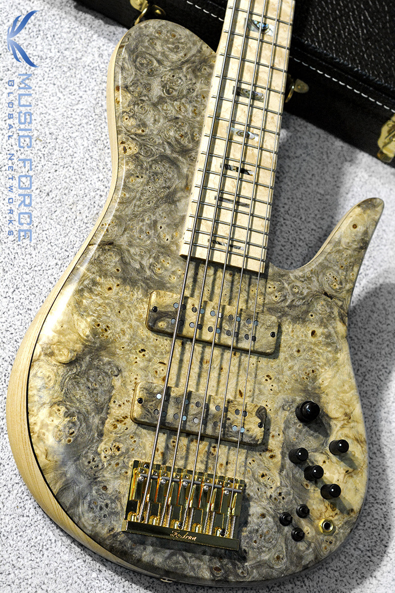Fodera Custom Imperial Elite 5-Buckeye Burl Top w/5-Piece Maple Neck, Birdseye Maple FB & Abalone Block Inlay(신품)