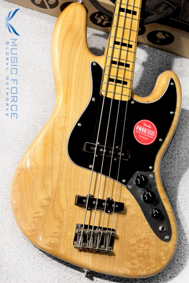 Squier Classic Vibe 70s Jazz Bass-Natural w/Maple FB (2019년산/신품)