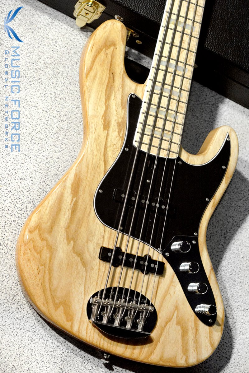 Lakland US Custom 55-60 Vintage J Bass-Natural w/Active Preamp, MOP Block Inlay & White Binding(2019년산/신품)