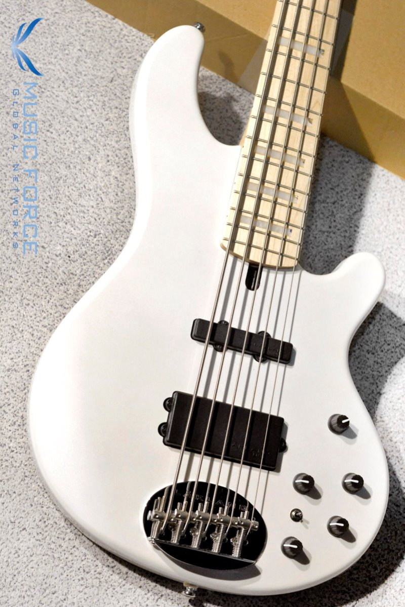 Lakland Skyline 55-02 Custom Pure White w/Maple FB & Special Block Inlay(2019년산/신품)