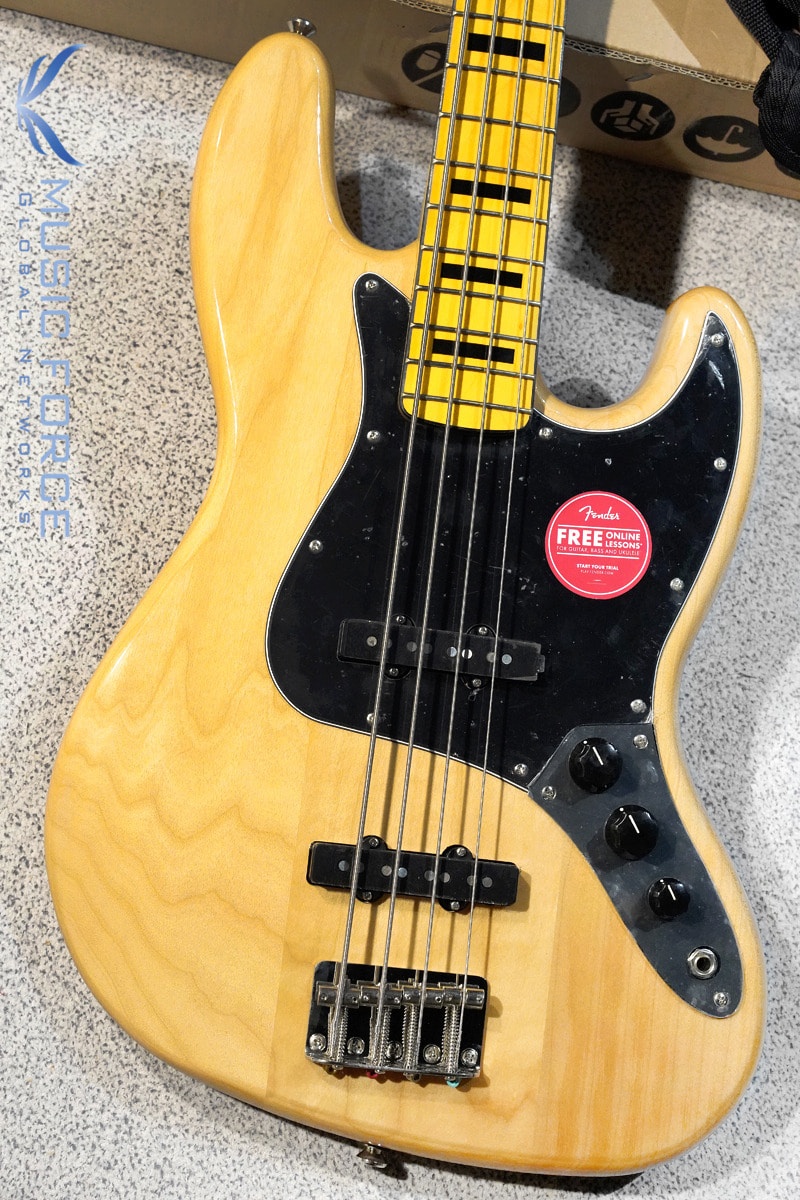 Squier Classic Vibe 70s Jazz Bass-Natural w/Maple FB (2020년산/신품)