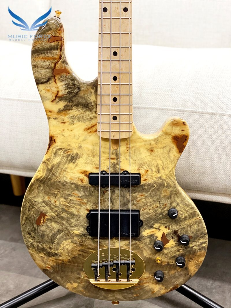 [창사12주년기념세일(~9/30까지)] Lakland US Custom 44-94 Deluxe Buckeye Burl Top w/Birdseye Maple FB & Black Gold HW(2017년산/신품)