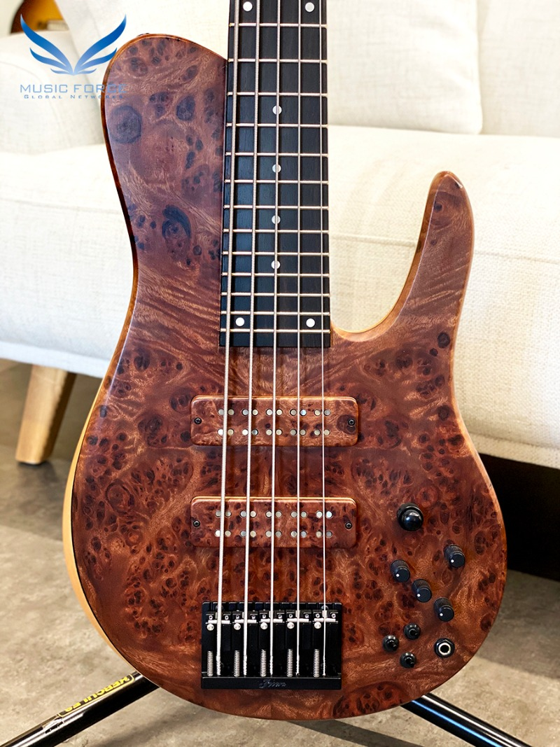 Fodera Custom Imperial Elite MG 5-Burmese Sal Top w/Macassar Ebony FB & Black HW(2019년산/신품)