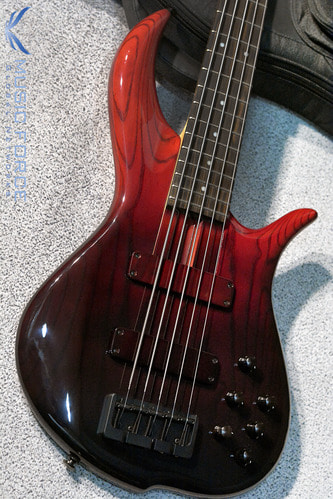 F-Bass BN5 Red Fade Gloss w/Macassar Ebony FB & Black HW(2017년산/신품)